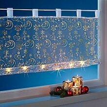 vivadomo LED-Bistrogardine Goldschimmer