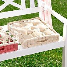 vivaDOMO Sitzkissen Rosen Stuhlkissen Auflage