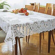 vivaDOMO Tischdecke Bianca Spitzen-Design