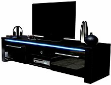 VIVALDI MEBLE LED TV Board schwarz Hochglanz