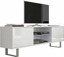 VIVALDI MEBLE LED TV Board weiß matt Hochglanz