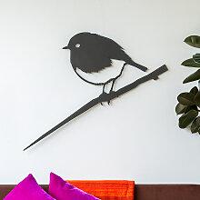 Vivara Metalbird XXL Wanddekoration Rotkehlchen