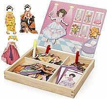 VIVIANU Spielsachen aus Holz wechselnde Kleidung