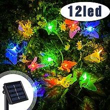 Vivibel Led Solar Schmetterling Lichterkette