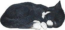 Vivid Arts Blumentopf PAL Range–Schlafende Katze BLK/WHT