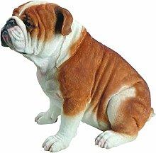 Vivid Arts Bulldogge, groß, Kunstharz Gartendeko