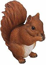 Vivid Arts Eichhörnchen, rot, sitzend, Kunstharz Gartendeko