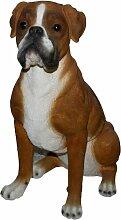 Vivid Arts Real Life Boxer Hund, Kunstharz Gartendeko (Größe A)