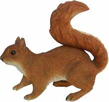 Vivid Arts Real Life Eichhörnchen, rot, Kunstharz Gartendeko (Größe A)