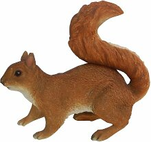 Vivid Arts Real Life Eichhörnchen, rot, Kunstharz