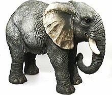 Vivid Arts Real Life Elefant, extra groß, Kunstharz Gartendeko (Größe A)