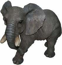 Vivid Arts Real Life Elefant, groß, Kunstharz Gartendeko (Größe B)