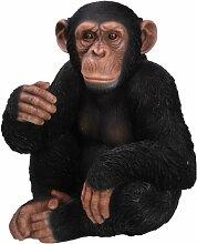 Vivid Arts Schimpanse, sitzend, Kunstharz Gartendeko