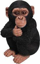 Vivid Arts Schimpansen-Baby, Kunstharz Gartendeko