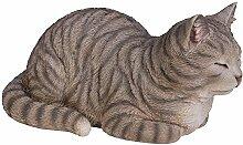 Vivid Arts Träumende Katze, getigert, Kunstharz