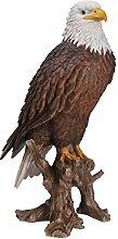 Vivid Arts Weißkopfseeadler, Kunstharz Gartendeko
