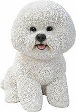 Vivid Arts XRL-BICH-B Bichon Frise Hund, Kunstharz