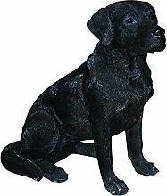 Vivid Arts XRL-BLAB-A, Labrador Hund, schwarz, Kunstharz Gartendeko