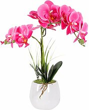VIVILINEN Künstliche Blume im Topf Orchideen