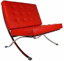 Vivol Sessel Barcelona - moderner Klassiker (Rot)