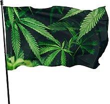 VJSDIUD Flagge Cannabis Unkraut Grüne Pflanze