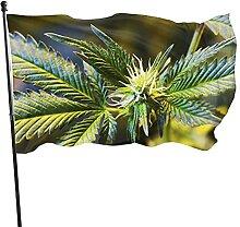 VJSDIUD Flagge Cannabis Unkraut Pflanze Rauchen