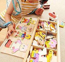 Vkook Lernspielzeug Cute Bear Educational Puzzle