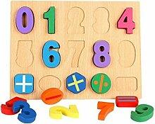 Vkook Lernspielzeug Holz Peg kognitiven Board