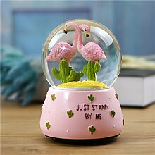 Vkook Perfekte Dekoration Flamingo Crystal Ball