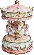 Vkook Perfekte Dekoration Karussell-Spieluhr mit