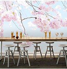 Vlies Benutzerdefinierte Fototapete Kirschblüte