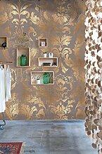 Vlies Foto Tapete Wandbild Barock Muster Ornament