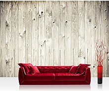 Vlies Fototapete 300x210 cm PREMIUM PLUS Wand Foto Tapete Wand Bild Vliestapete - WEATHERED WOOD PLANK - Holzoptik Holzwand HolzPanel weißes Holz altes Holz - no. 091