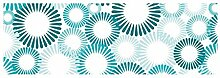 Vlies Fototapete BLAUE KREISE 330 x 110 cm | Wandbilder XXL - Riesen Wandbild - Wand Dekoration - Vliestapete - Wandtapete | PREMIUM VLIES QUALITÄT