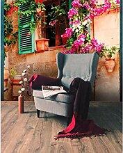 Vlies Fototapete BLUMENFENSTER 220 x 220 cm   Wandbilder XXL - Riesen Wandbild - Wand Dekoration - Vliestapete - Wandtapete   PREMIUM VLIES QUALITÄT