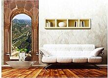 Vlies Fototapete BOGENFENSTER 110 x 220 cm | Wandbilder XXL - Riesen Wandbild - Wand Dekoration - Vliestapete - Wandtapete | PREMIUM VLIES QUALITÄT