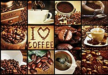 VLIES Fototapete-COFFEE LOVE-312x219cm-3