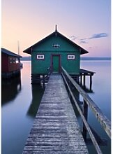 Vlies Fototapete Das grüne Bootshaus