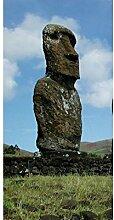 Vlies Fototapete EASTER ISLAND 110 x 220 cm | Wandbilder XXL - Riesen Wandbild - Wand Dekoration - Vliestapete - Wandtapete | PREMIUM VLIES QUALITÄT