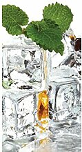 Vlies Fototapete EISWÜRFEL 110 x 220 cm   Wandbilder XXL - Riesen Wandbild - Wand Dekoration - Vliestapete - Wandtapete   PREMIUM VLIES QUALITÄT