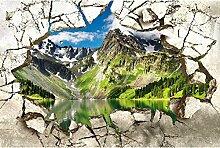 Vlies Fototapete GEBROCHENE WAND 330 x 220 cm   Wandbilder XXL - Riesen Wandbild - Wand Dekoration - Vliestapete - Wandtapete   PREMIUM VLIES QUALITÄT