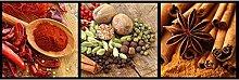 Vlies Fototapete GEWÜRZ COLLAGE 330 x 110 cm | Wandbilder XXL - Riesen Wandbild - Wand Dekoration - Vliestapete - Wandtapete | PREMIUM VLIES QUALITÄT