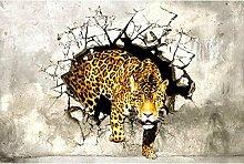 Vlies Fototapete JAGDPANTHER 330 x 220 cm | Wandbilder XXL - Riesen Wandbild - Wand Dekoration - Vliestapete - Wandtapete | PREMIUM VLIES QUALITÄT