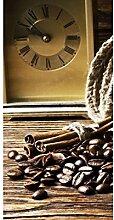 Vlies Fototapete KAFFEEZEIT 110 x 220 cm | Wandbilder XXL - Riesen Wandbild - Wand Dekoration - Vliestapete - Wandtapete | PREMIUM VLIES QUALITÄT