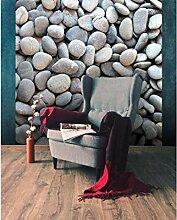 Vlies Fototapete KIESELSTEINE 220 x 220 cm | Wandbilder XXL - Riesen Wandbild - Wand Dekoration - Vliestapete - Wandtapete | PREMIUM VLIES QUALITÄT