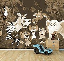 Vlies Fototapete - Kinderbild - Dschungeltiere