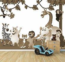 Vlies Fototapete - Kinderbild - Tiere Cartoon III