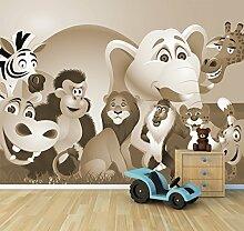 Vlies Fototapete - Kinderbild - Tiere Cartoon -