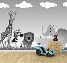 Vlies Fototapete - Kinderbild - Tiere Cartoon VI -