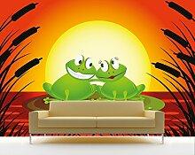 Vlies Fototapete - Kinderbild Verliebter Frosch